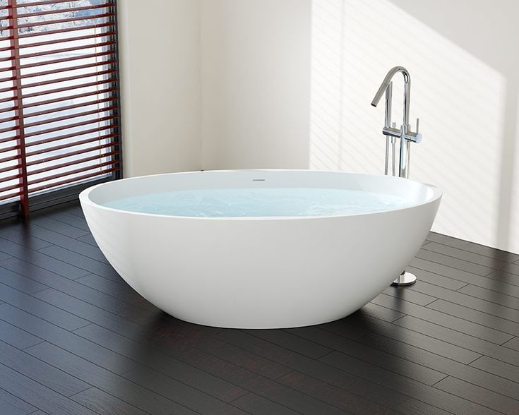 Stand Alone Tub - Model BW-04 XL - Stone Resin | Badeloft USA