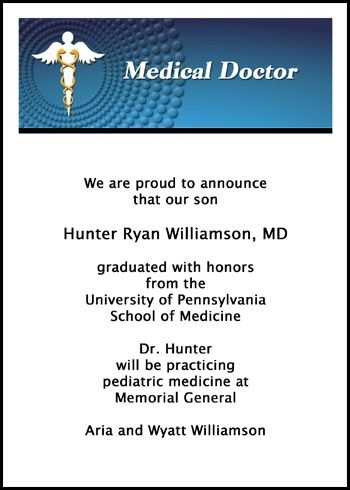 23 best medical graduation announcements for med school images on shop from the most gigantic collection of discounted medical doctor graduation announcement cares and med school gradation invitations and for commencement stopboris Gallery
