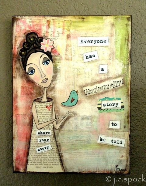 Mixed Media Art by lindapindadesigns on Etsy