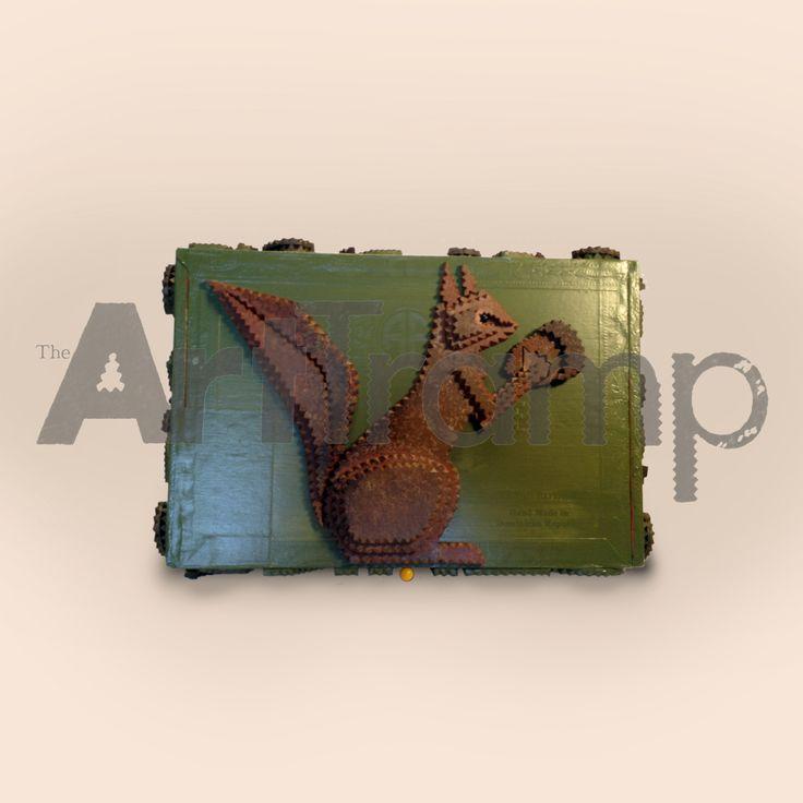 """""""NUTS"""" ~ Tramp Art Box. Original design by David A. Schump a.k.a. The Art Tramp ©2013"""
