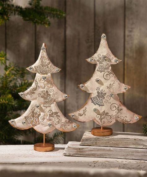 Tannenbäume aus geprägtem Kupferblech - Kostenlose Anleitung. ✓ Einfach nachzumachen ✓ Material online bestellen ✓