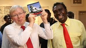 Witiyana Marika and Kevin Rudd