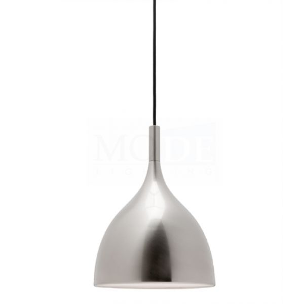 The Mantra - available in white and polished chrome. Simple class - http://www.modelighting.com.au/chandelier-pendants/mantra-white-1-light-contemporary-metal-pendant