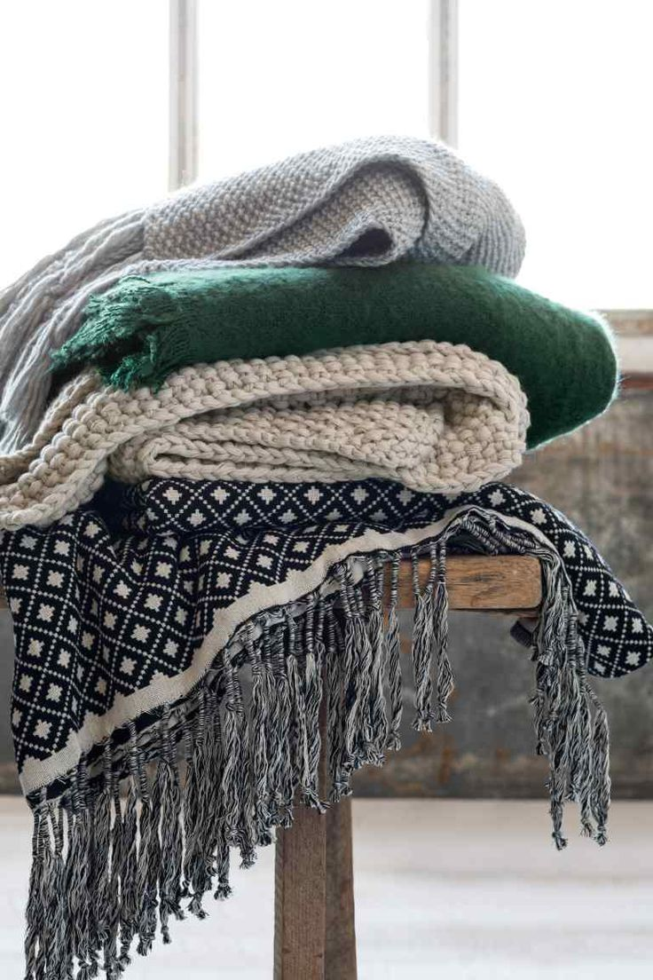H&M home - cozy plaids and wool blankets