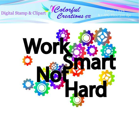Work Smart Not Hard Digital Stamp For Personal And Commercial