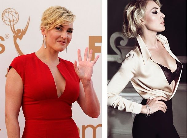 Kate Winslet is again the victim of a Photoshop hack job, this time by Harper's Bazaar in their Nov. 2011 issue. Both of these photos were taken the same month!