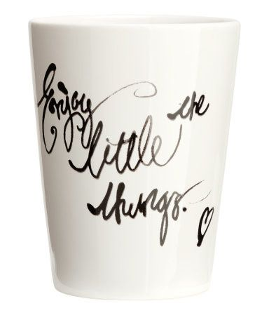 Mug - from H&M. This is cute but I could make it, with my awesome oven-sharpie craft skills.