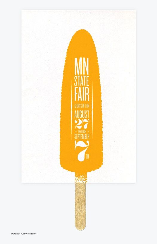 poster on a stick