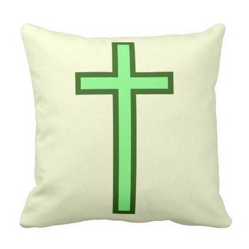 Green-Colored Christian Cross