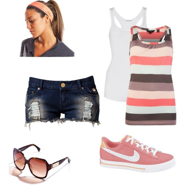 SUMMER ERRANDS, created by kuddley22 on PolyvoreOutfit Summer, Summer Errands, Summer Fashion, Pink Nikes, Clothing Style, Clothing Summer, Cute Summer Outfits, Summer Clothes, Style Clothes