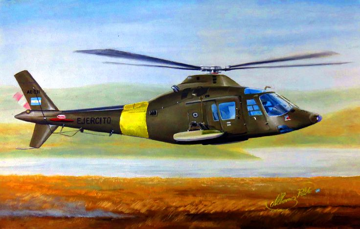 Argentinian Agusta A-109 helicopter, Falklands War