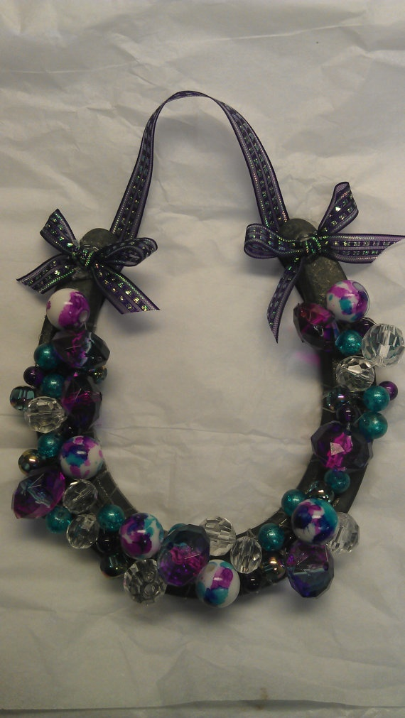 Beaded Horseshoe made just for you by CreationzByCarey on Etsy, $20.00