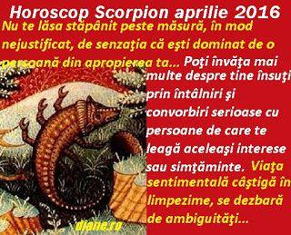 diane.ro: Horoscop Scorpion aprilie 2016