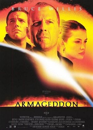 "Armageddon - 1998 :  Similar story as Deep Impact about meteor shower..... starring Bruce Willis, Ben Affleck..What I love was... ""I don't want to miss a thing""  by Aerosmith from the sound track."