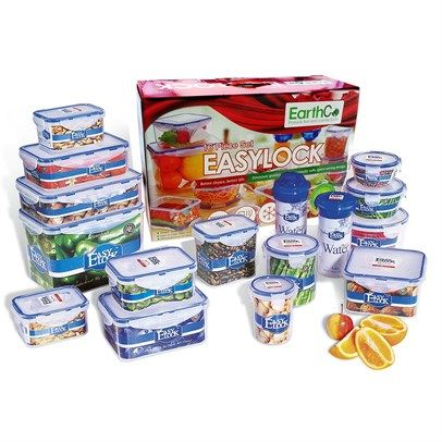 Earthco Easylock  Piece Bpa Free Plastic Food Containers
