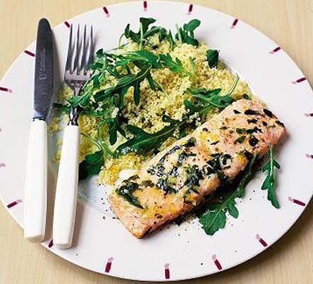 Easy day dinner - A herby and zesty salmon dish, that's high in omega-3s - you could barbecue or grill it