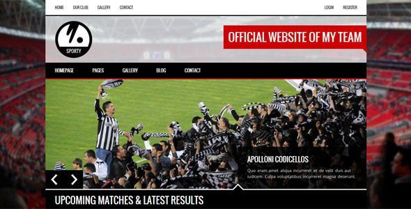 SPORTY - Responsive HTML5 Template for Sport Clubs | Sports clubs