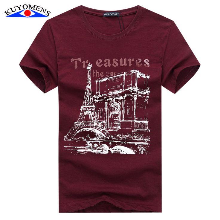 Kuyomens mannen t-shirt plus size tee shirt homme zomer korte mouw Casual mannen T-shirts Mannelijke T-shirts Camiseta 3D t-shirt Homme