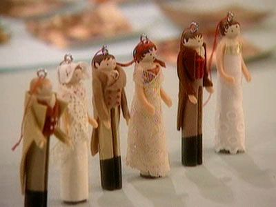 Clothespin Doll Ornaments | Step-by-Step | DIY Craft How To's and Instructions| Martha Stewart