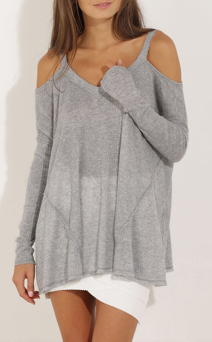 This off the shoulder sweater is the perfect casual look that looks great with anything!