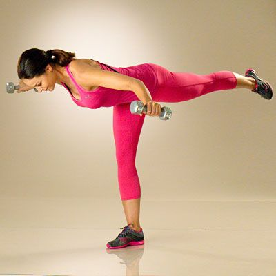 One-leg rear-delt raise...the move that tones your arms, back, legs, and balance!  | http://www.health.com/health/gallery/0,,20319865_3,00.html#