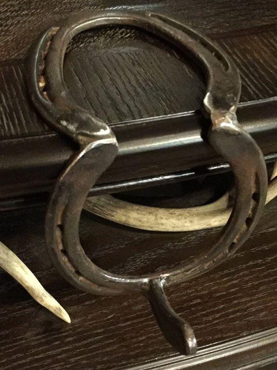 Horseshoe Stocking Hanger by DocsHorseshoeDesigns on Etsy