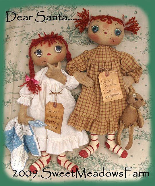 Cloth Doll Patterns By Maureen Mills Raggedy Annie Dollys Unique Sweet Meadows Farm Patterns