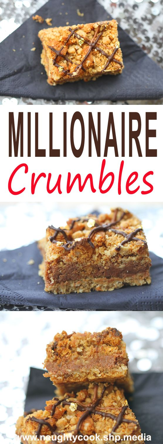 I was asked to make my salted caramel carmelitas for a birthday party, but as I knew there would be children present and the salty kick means they're very much for grown ups, I thought I'd try something a little different. Being for a celebration, I thought I'd try and inject some pizzazz and come up with these crumbles which are a riff on the traditional millionaire shortbread.