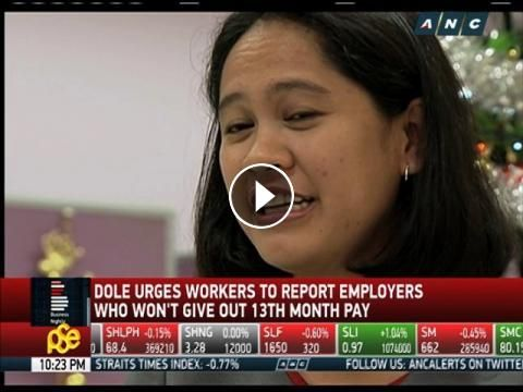 DOLE: Report employers who won't give 13th month pay: With a little over a month left before Christmas, the Department of Labor and…