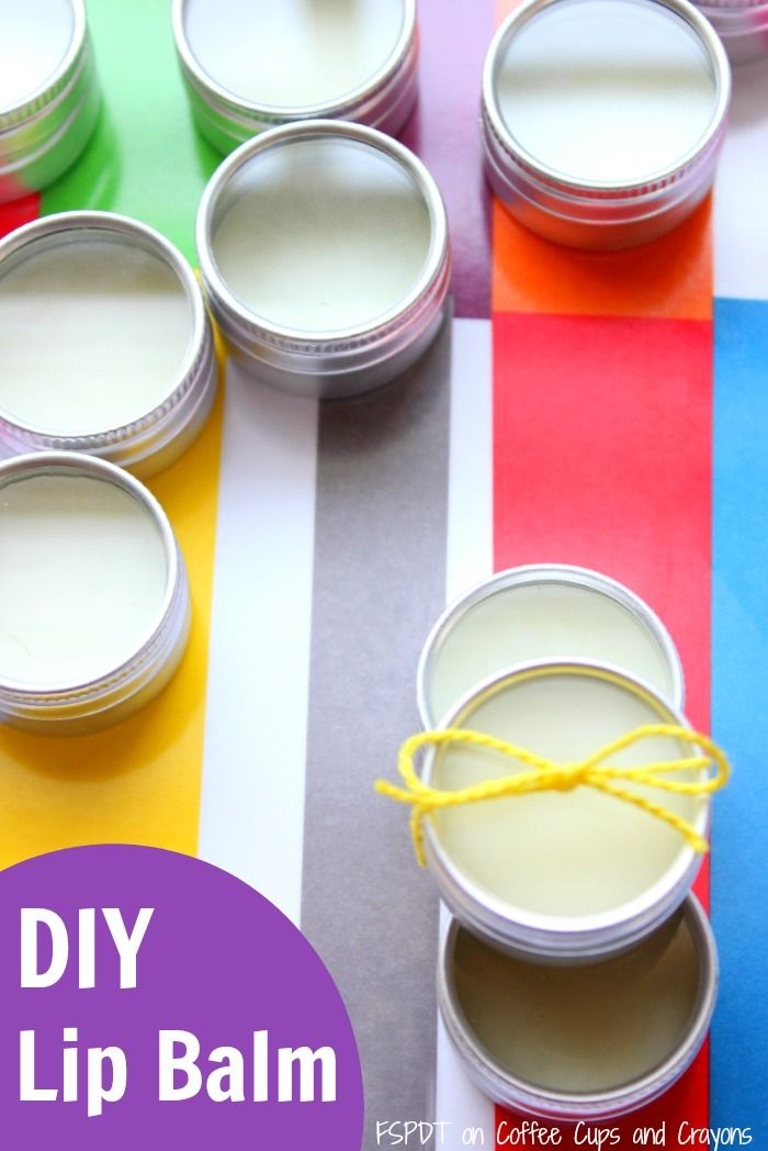 DIY Lip Balm Recipe that makes great homemade gifts! Simple enough for kids to help make!