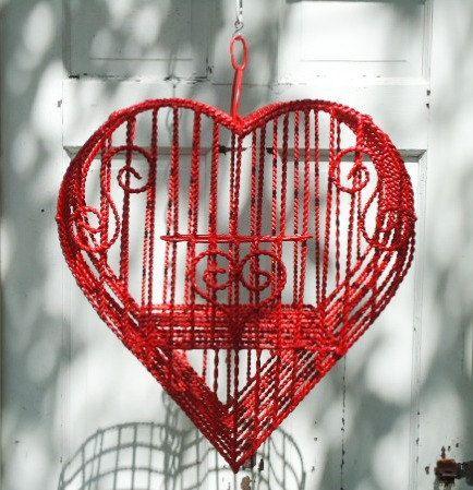 Heart Shaped Decorative Birdcage