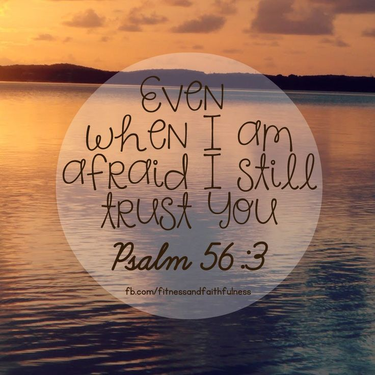 """""""Even when I am afraid, I still TRUST You""""…Psalm 56:3. When your LIFE feels like it is spinning out of control, God is the ONLY one who remains constant. He is unchangeable. Unshakeable. Unmovable. When you need PEACE…He gives it. When you need STRENGTH…He will give it. God will give you ALL you need."""