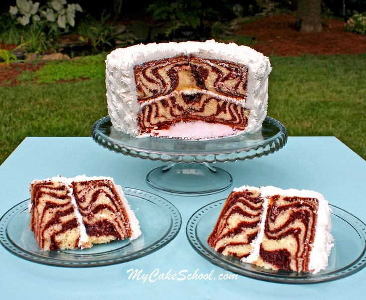 Learn How to Make a Zebra Cake in MyCakeSchool.com's free Cake Decorating Tutorial!