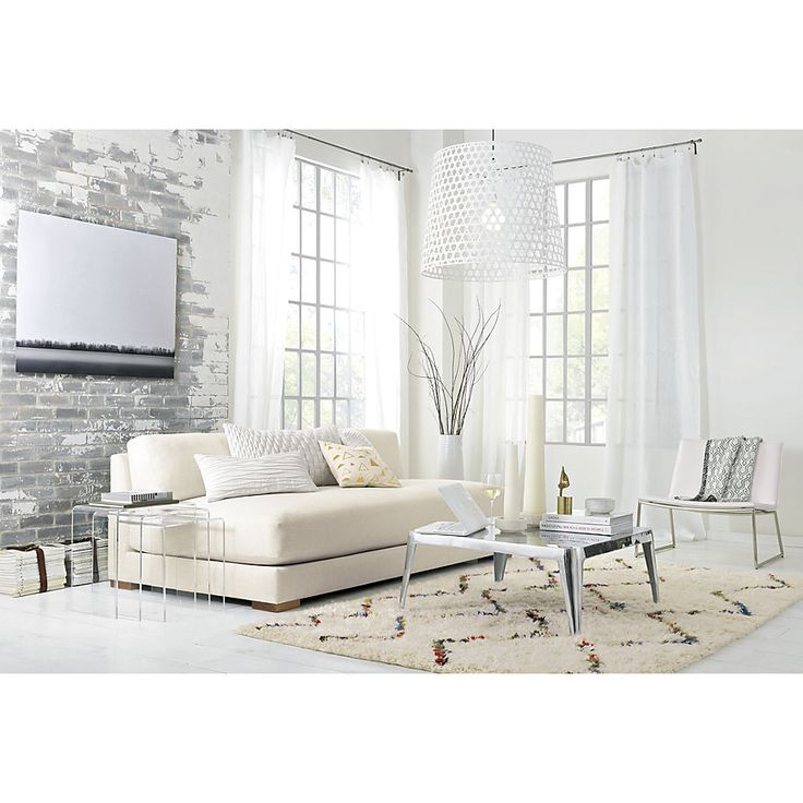 piazza snow sofa in sofas | CB2