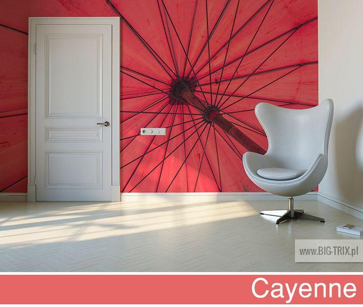 PANTONE 2014: Cayenne umbrella wallpaper by Big-trix.pl | #pantone #pantone2014 #cayenne #wallpaper