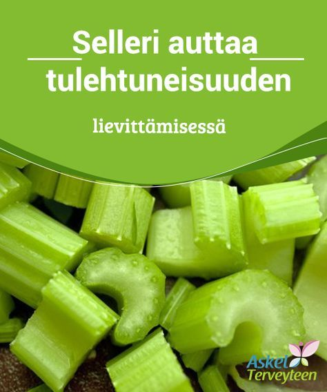 Selleri auttaa tulehtuneisuuden lievittämisessä #Selleri auttaa muun muassa #painonpudotuksessa sekä poistaa #tulehtuneisuutta. #Luontaishoidot