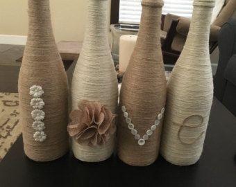 Wijn glas serviesje bindgaren verpakt wijnglas door CrystalsMarket
