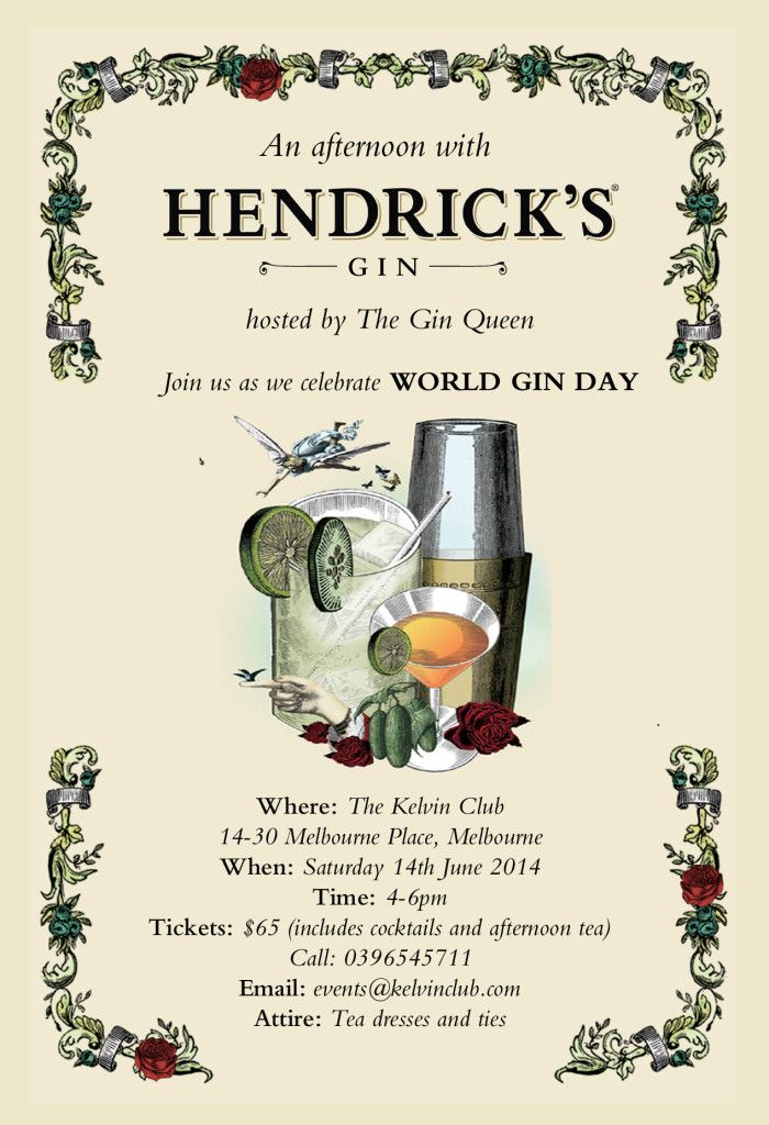 Afternoon Tea with Hendrick's Gin ~ Melbourne 14th June 2014 - The Gin Queen