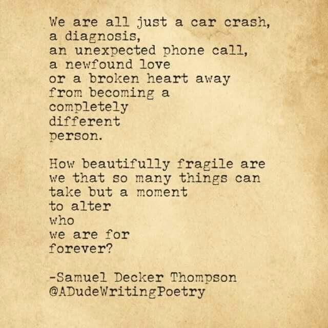 Short Car Crash Poems