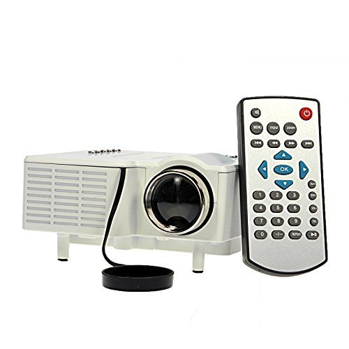 24W Mini Multimedia LCD Image System LED Projector with SD/USB/AV/VGA/HDMI Port for Home Theater Cinema Use - White. The LED lamp can work for over 20 thousand hours, and can provide beautiful colors. Video: Mpeg1, Mpeg2, Mpeg4, Rm, Rmvb, Avi, Flv, Wmv. Support File Format: Audio: WMA, MP3. Color: White. Contrast: 300:1. Input: Vga/av/usb/sd/hdmi. Mini multimedia LCD image system LED projector. Gross Weight: 765 g/1.69 lb. Easy changing in 16:9 and 4:3 aspect ratio.