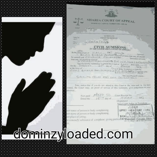 """Husband Drags Wife To Sharia Court For Praying & Worshiping God Too Much   This world is really coming to an end! A Christian husband dragged his wife to a Sharia Court in Abuja on the basis of her praying and worshiping God too much. Emeka Ugwuonye of the Due Process Advocates who is the woman's lawyer shared the post on Facebook on Thursday March 16  Read below:  """"The third major case of the day today: The man that knocked off the teeth of his wife showed his true color. Fellow Advocates…"""
