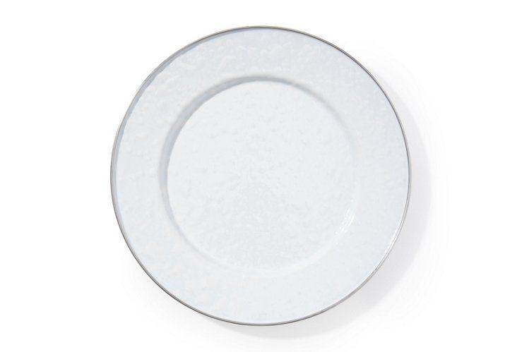 S/4 White on White Dinner Plates