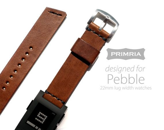 I want this! https://www.etsy.com/listing/197825040/22mm-leather-strap-for-pebble-lg-g-watch