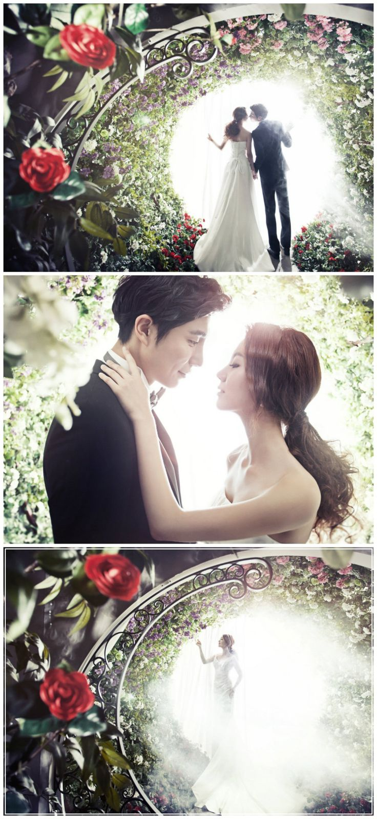 Garden theme | Korea Pre-Wedding in studio | May Studio - Korea wedding photographer on OneThreeOneFour.com