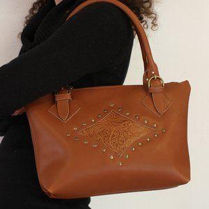 Sac cuir femme ; sac marron ; sac femme marron ; sac en cuir marron