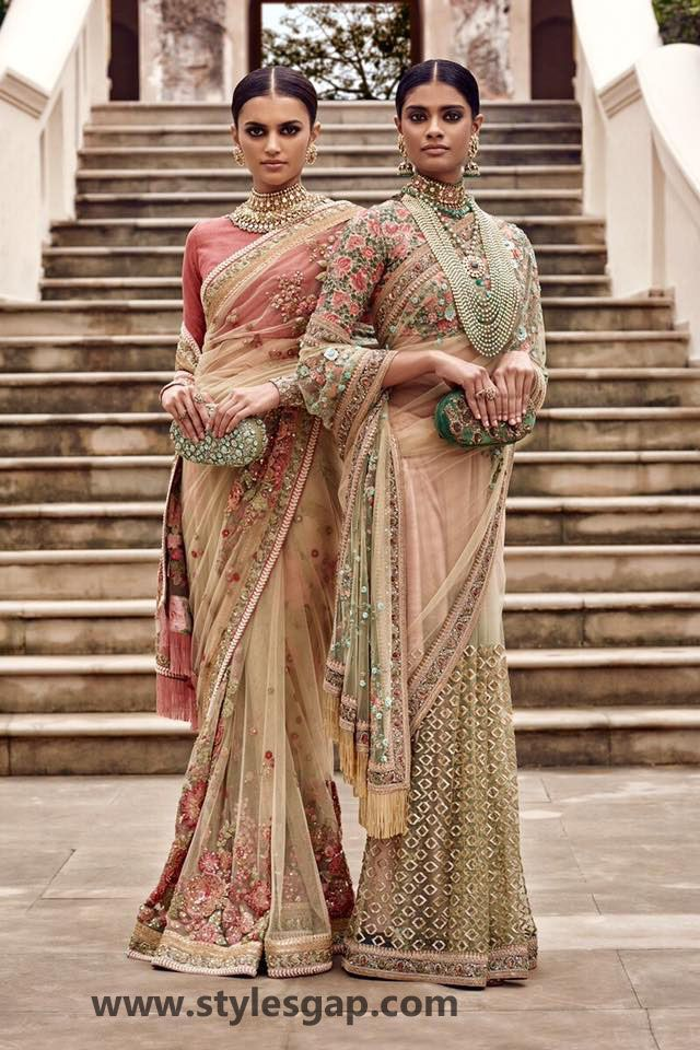 Sabyasachi Mukherjee Latest Wedding Dresses 2016-2017 Collection. Lehengas, Sarees (25)