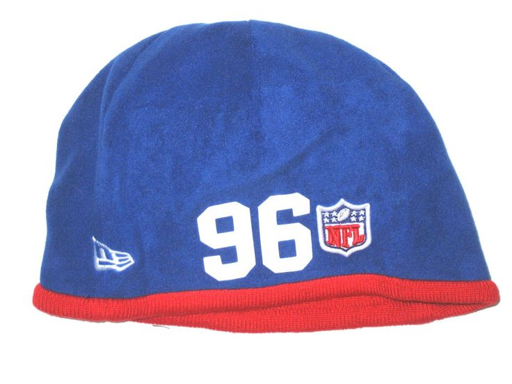 big sale df2b8 a1684 ... canada jay bromley sideline worn official new york giants 96 new era  tech knit hat c42e5