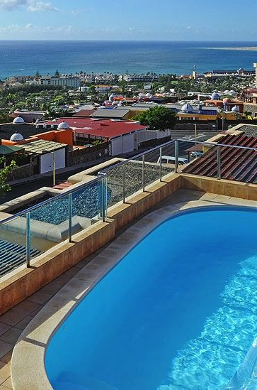 The views from the pool of Villa Violetta, Gran Canaria, Canary Islands, Spain