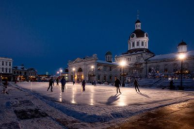 Ice Skating in Market Square Downtown Kingston