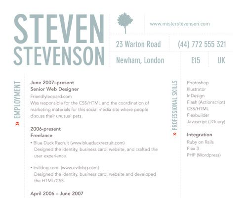 how to create a great web rsum and design cv